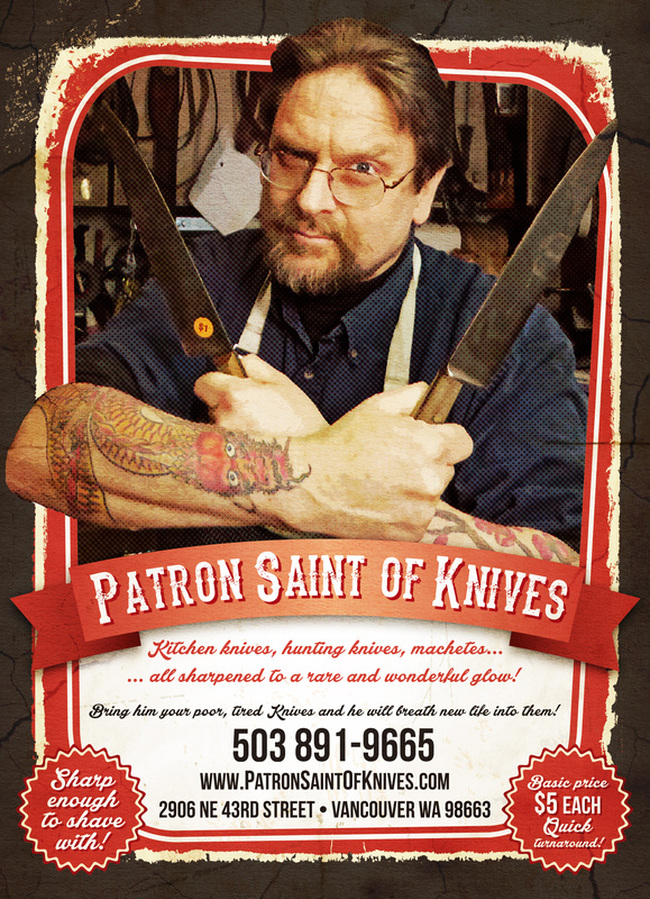 Patron Saint with Knives