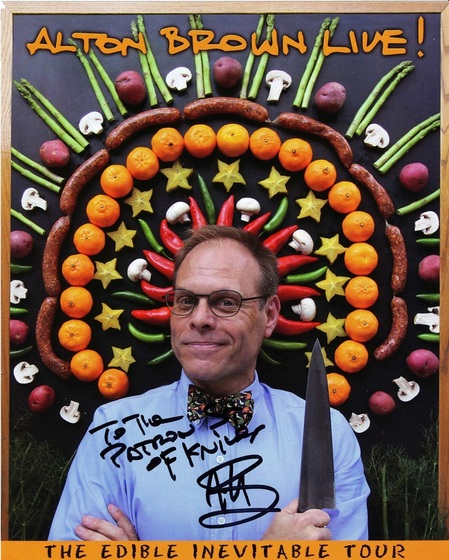 Alton Brown to The Patron Saint of Knives